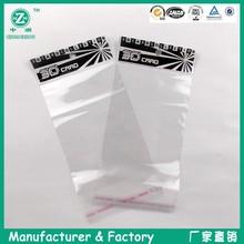 transparent white self-adhesive plastic bag