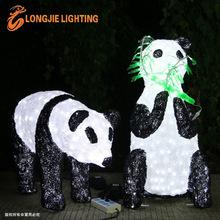 H:60cm, 100cm 3d panda sculpture light animal modeling