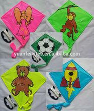 ployester material promotional children PE flying kite