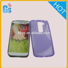 Purple S-Line Soft TPU Gel Back Case Cover Skin For LG G2 Lite D295