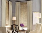 Favourable Whole-sale Luxury Living Room 100% Polyster Opening and Closing Blinds