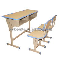 Middle school classroom desk and chair
