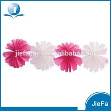 Colorful Tissue Wedding Paper Flower Garland