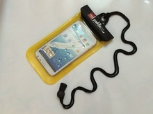 """Black Waterproof Case for Apple iPhone 5/ Galaxy S4/ HTC One/ iPod Touch 5 - Also fits other Large Smartphones up to 5.3"""""""