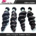 Venta caliente suave y lisa 6a 100% grado sin procesar peruana humanos cabello virgen