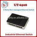 Dni- ferrocarril 10/100m 8 administrado los puertos switch ethernet industrial conmutador de red hub