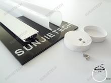 LO3030 Round aluminum profile led strip light hanging installation