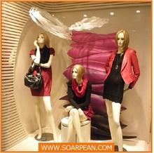 Gradual change color/special color decoration apparel shop window display props