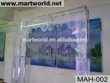 High quality hanging crystal wedding stage decoration,wedding backdrop,wedding&party decoration(MAH-002)