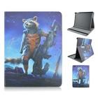Cartoon Rocket Raccoon of 3D Movie Flip PU Tablet Leather Case For Apple iPad 2 3 4, For ipad air, For ipad mini 1/2