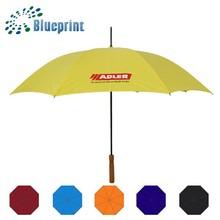 Advertising Custom Logo uv umbrella wooden handle