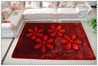 Modern Design Glitter Used Hotel Corridor 300D Silk 3D Carpet