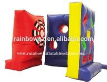nuevo diseño inflable deportes mantas de velcro bola pegajosa capturas del juego