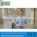 Krankenhauspatienten Alarm Berufung mit Blut Sammlungsetikett Tagging print equipment