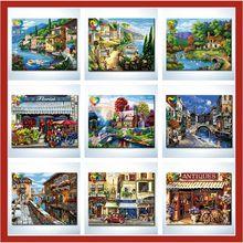 Christmas gift diy oil painting myanmar gems painting