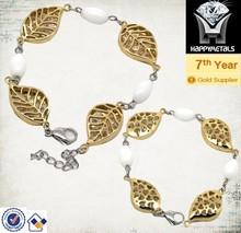 fashion fertility cheap gold leaves bangle bracelet