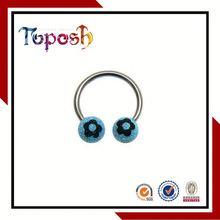Circular Barbell Ring Nose Piercing