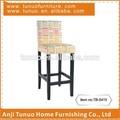 Barstool, industrial& contador de uso, o tipo de alta, borracha estrutura de madeira e as pernas, tb-5415