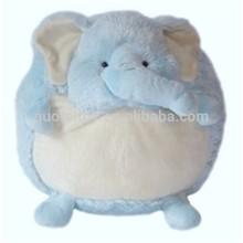 Super soft elephant round plush body pillows,stuffed animal shaped round pillows