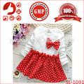 Hotsale barato moda menina pageant vestido de algodão de mangas compridas para vestir as crianças fantasia 2-8 anos de idade menina recém-nascido vestido show