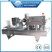 automatic water yogure cup filling and sealing machine for juice/jelly/water