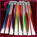 Grande venda! Colorido destaque individual clip extensões de cabelo encaracolado ombre fibrassintéticas extensão do cabelo
