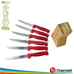 6pcs Steak Knife with Wooden Block