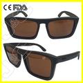 2014 estilo caminante de acetato de gafas de sol de madera de jardín de metal y puente de banda libre