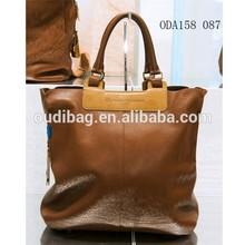 2014 custom fashion design PU leather handbags women bags