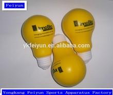 foam pu stress ball yellow light bulb shape stress ball custom stress ball