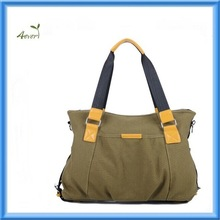 Fashion Green Canvas Tote Shoulder Bag For Women