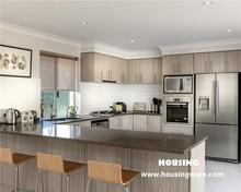 Laminated finish kitchen cabinet, popular design, Ash color