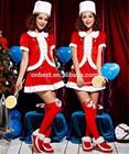 2014 wholesale girls christmas dress red fluffy dress