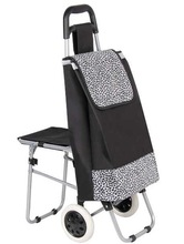 2014 wholesale middle-aged people vegetable trolley shopping bag with chair