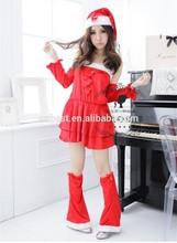 Red christmas hat beautiful girl clothing girl christmas dress