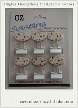 White Square/Twin/Rectangle Shaped Printed Binder Clips with plastic panel