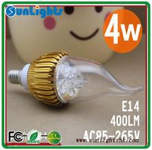 Alibaba China 3w 4w 5w E12 E14 Dimmable LED Candle Light,LED Candle Bulb,LED Flameless Candle Lamp