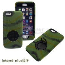 High quality camouflage Ring pull Protective case for iphone 6 plus