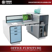 New design high quality t shape high gloss white office desk