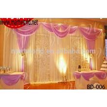 Exquisite making curtain fibric wedding backdrop decoration ,wedding stage decoration(BD-006)
