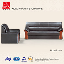 Popular Leather wood Office Sofa(E3243)