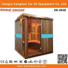 4 person sauna house with hemlock wood