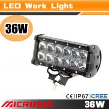 High power retractable led work light,black aluminum housing, spot or flood beam