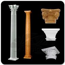 high quality custom green garden marble column base