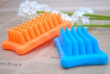 NEW for Pets dog cat shower massage silicone pet brush