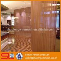 Hotel restaurant indoor exhibiton room decorative folding screen curtain
