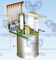 mezclador de ventilación del filtro