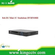 dahua dvr h.264 8ch Mini 1U standalone DVR dahua dvr realtime DVR5108H security camera kit