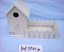 bird living use polished wooden bird house