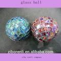 renkli mozaik el yapımı yılbaşı cam topu süs